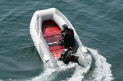 Лодка ПВХ Forward MX390FL, дно пайольное деревянное, серая/серая