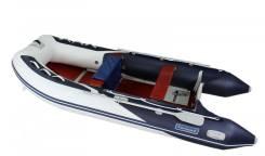 Лодка ПВХ Forward MX390FL, дно пайольное деревянное, синяя/белая