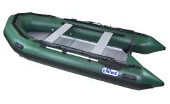 Лодка ПВХ SVAT ZYA380 дно пайольное деревянное, цвет зеленый