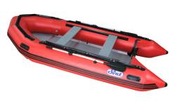 Лодка ПВХ SVAT ZYA380 дно пайольное деревянное, цвет красный