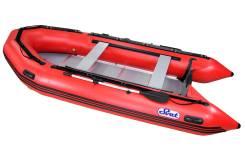 Лодка ПВХ SVAT ZYA420 дно пайольное деревянное, цвет красный