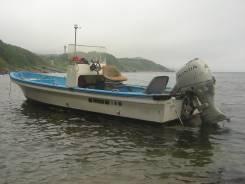Продам моторную лодку Yamaha UF-19 1995 г. с телегой