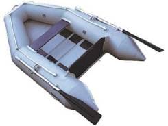 "Лодка ПВХ ""Лидер-235"" под мотор (3 л. с. ), решетчатый настил, серая"