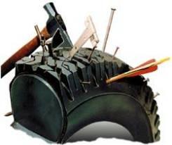 Заполнение пневматических шин на спецтехнике полимером TyrFil