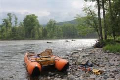 Катамаран 4-х местн для сплава по рекам и рыбалки