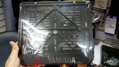 Рамка для установки гос номера на мотоцикл с фурнитурой надпись Yamaha