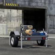 Дровокол Зверь с электродвигателем  на автомобильном прицепе