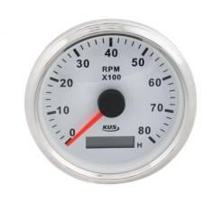 Тахометр 0-6000, 0-7000 и 0-8000 об/мин со сч. моточасов