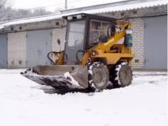 Минипогрузчик уборка снега
