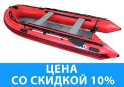 Лодка ПВХ SVAT ZYD380 дно пайольное деревянное, цвет красный