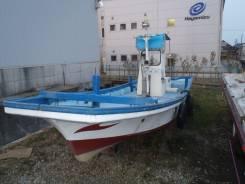 Лодка промысловая Yanmar с дизельным двигателем.1996г. без пробега. В