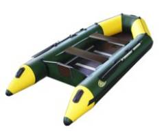 Надувная лодка под мотор ПВХ Гелиос-31МК (цвет зелёный)