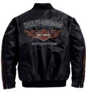 Байкерская болоневая ветровка Harley Davidson, размер XL, США.