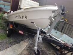 Пластиковая лодка Yamaha 12 футов с телегой без пробега по водам РФ
