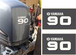 Наклейка на крышку лодочного мотора Yamaha 90 (  отправка по РФ- 0p. )