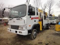 Hyundai Mega Truck. Продам бортовой грузовик с манипулятором Hyundai MEGA Truck, 6 606куб. см., 4x4