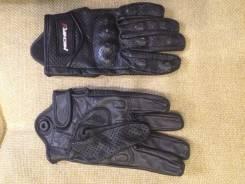 Scoyco перчатки короткие кожаные