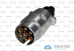 Алюминиевая вилка  электрическая 7-и контактная, европейского типа
