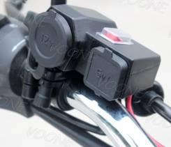 USB зарядка два входа 5V и 12V для любых мотоциклов / Отправлю по РФ