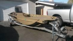 Речная лодка для охоты Polar Kraft с тоннельным корпусом под водомет