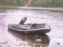 Транцевая ПВХ лодка Лидер 380 в хорошем состоянии 25т. р.