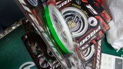 Лента наклейка на обод колеса полоски мотоцикла авто зеленый салатовый