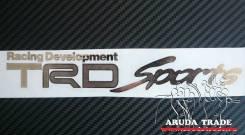 Большая металлизированная наклейка TRD Sports (Хром)