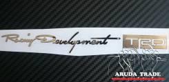 Большая металлизированная наклейка Racing Development TRD (Хром)