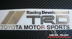 Большая металлизированная наклейка Racing Development TRD TMS (Хром)
