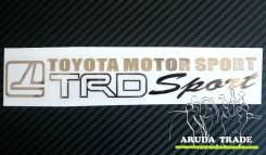 Большая металлизированная наклейка TRD Sport TMS (Хром)