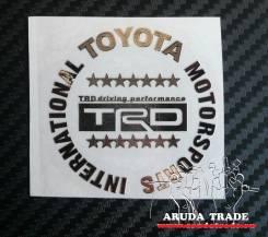 Металлизированная наклейка Toyota TRD звезды (Хром)