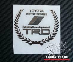 Металлизированная наклейка TRD винок (Хром)