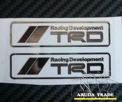 Металлизированная наклейка TRD Racing Development - 2шт. (Хром)