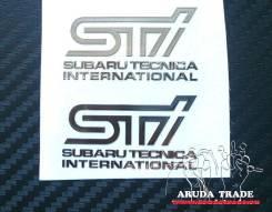 Металлизированная наклейка STI (2шт) Хром