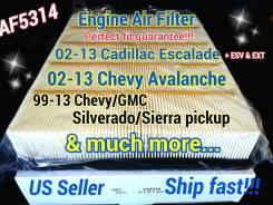 Фильтр воздушный. Cadillac Escalade, GMT900, GMT800 Chevrolet: Yukon, Tahoe, Suburban, Silverado, Avalanche GMC Sierra GMC Suburban GMC Yukon L92, L94...