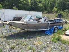 Алюминиевая лодка с трейлером