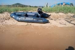Продам лодку Лидер с двухтактным мотором еойхатсу
