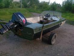 """Продам моторню лодку """"Обь-3"""" с мотором Suzuki TD 30, c телегой"""