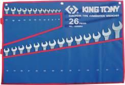 Набор комбинированных ключей, 6-32 мм 26 предметов KING TONY