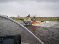 Продается комплект, лодка Wellboat 46m+ л. м Honda df40 + Телега мзса.