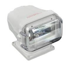 Прожектор галогеновый, стационарный, белый корпус, дистанционное управ