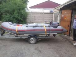 """Продам надувную лодку """"Лидер-400"""" с мотором """"Yamaha-15"""" и телегой"""