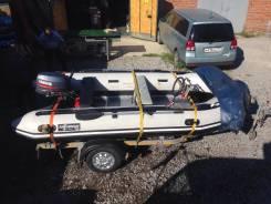 Моторная лодка с мотором и прицепом