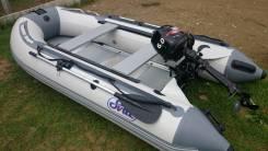 Продам отличный комплект, лодка ПВХ SVAT ZYD 320+мотор Hangkai 6 л. с.