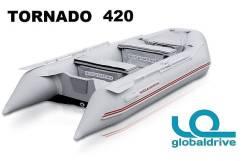 Новая надувная моторная лодка ПВХ Nissamaran Tornado 420. Гар-я 2 года