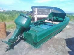 Казанка-5, мотор ямаха-115, телега с. Усть-большерецк