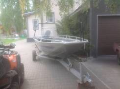 Лодка Мастер 500 с мотором Меркури 60 с телегой