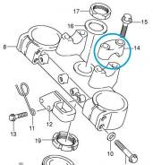 Скоба крепления руля (пара) Suzuki RM _ 56211-36F00
