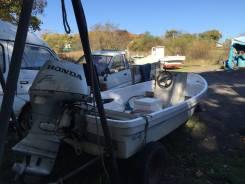 Продам моторную лодку БРИЗ 14 с подвесным мотором 4-х тактным Honda 45  л. с.