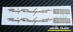 Металлизированная наклейка Racing Development TRD - 2шт. (Хром)